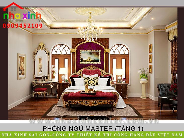 Mẫu Thiết Kế Biệt Thự Cổ Điển Châu Âu Ông Hòa Noi-that-phong-master-co-dien-112