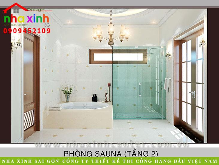 Mẫu Thiết Kế Biệt Thự Cổ Điển Châu Âu Ông Hòa Phong-sauna-gia-dinh-112