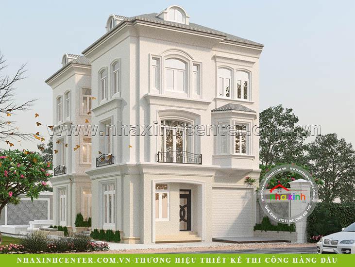 Mẫu Biệt Thự 3 Tầng Phong Cách Bán Cổ Điển | Ông Thái | BT160