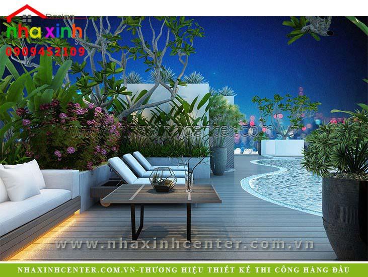 Tổng hợp những mẫu thiết kế sân thượng đẹp Nhà Xinh