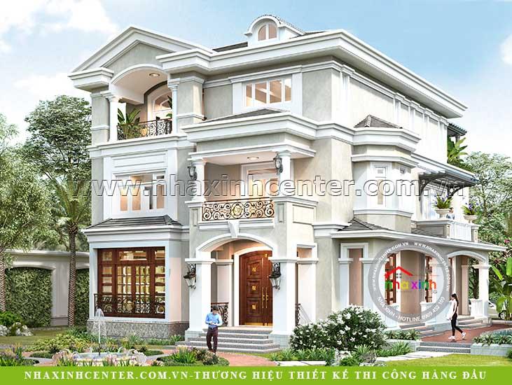 Thiết kế nhà biệt thự tân cổ điển chị Loan