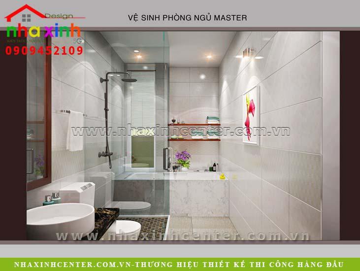wc toilet phong master nha pho dep, mau noi that