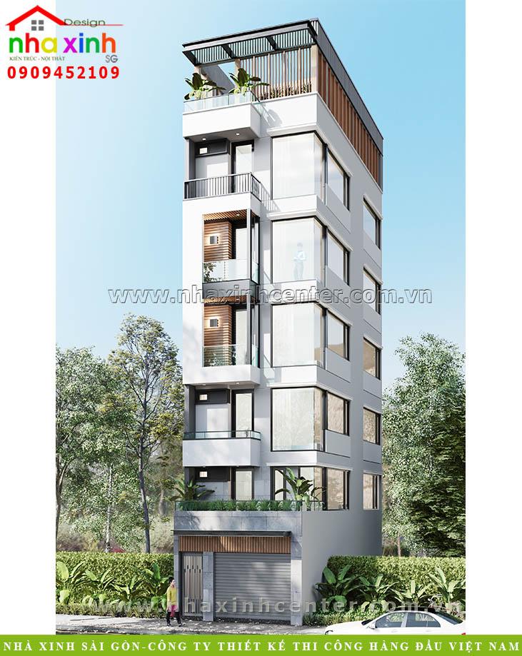 Thiết kế nhà phố 4x15m