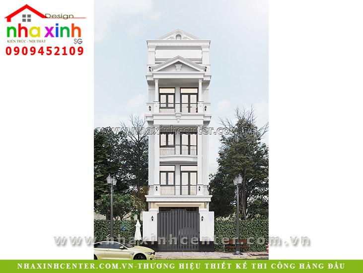 Nhà Phố Tân Cổ Điển 5 Tầng Đẹp Bác Hòa