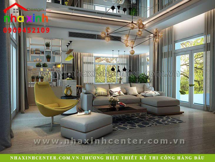 Thiết kế nội thất biệt thự biệt thự hiện đại Chị Như