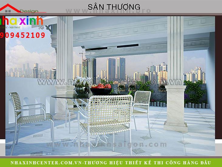 San thuong biet thu dep tan co dien