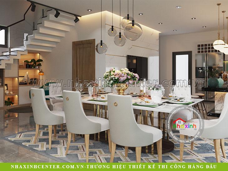 nhà xinh thiết kế nội thất biệt thự hiện đại chị linh