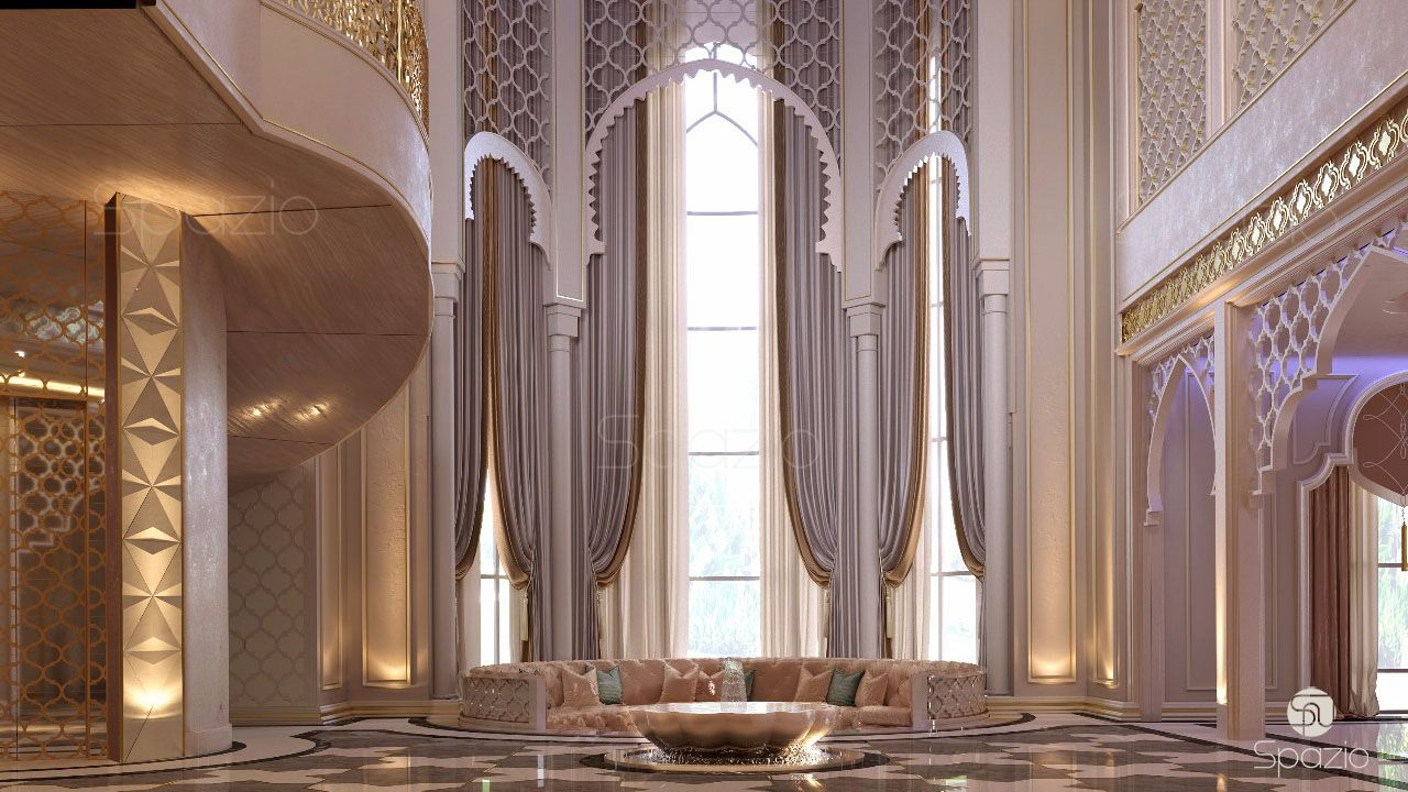 luxury villa interior design in dubai spazio