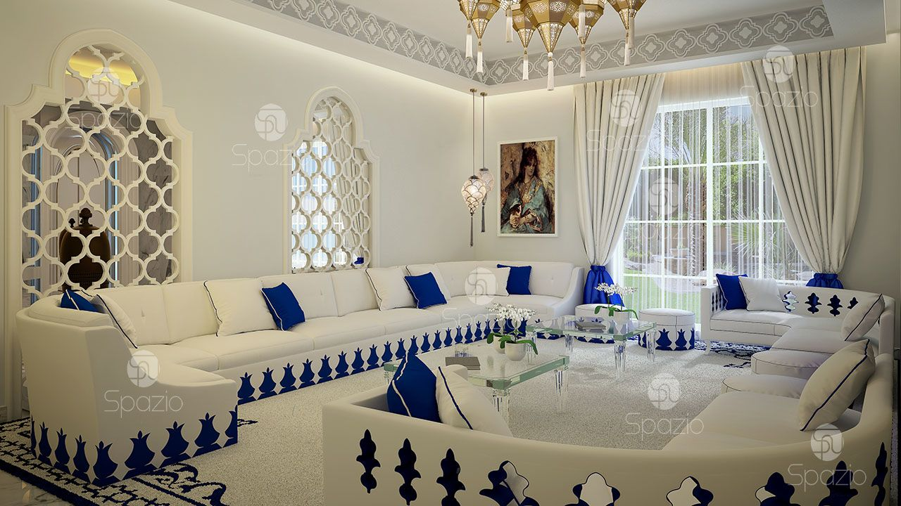 moroccan themed living room decor in Dubai