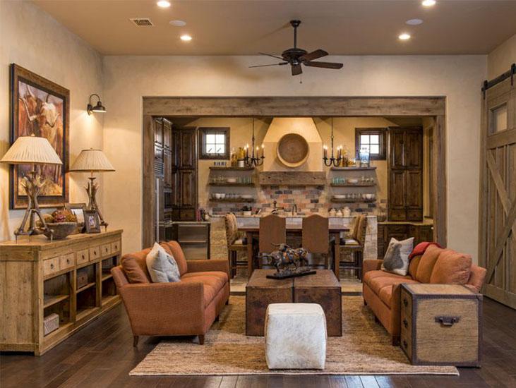 Wood Rustic Living Room