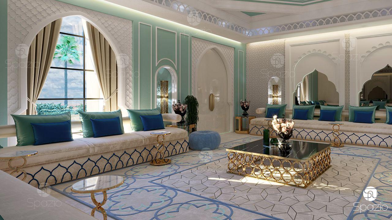 Woman majlis interior design and Arabic decoration