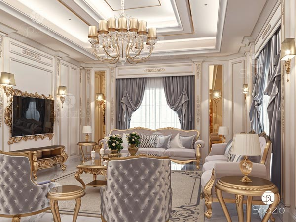Classic interior design for a residential house