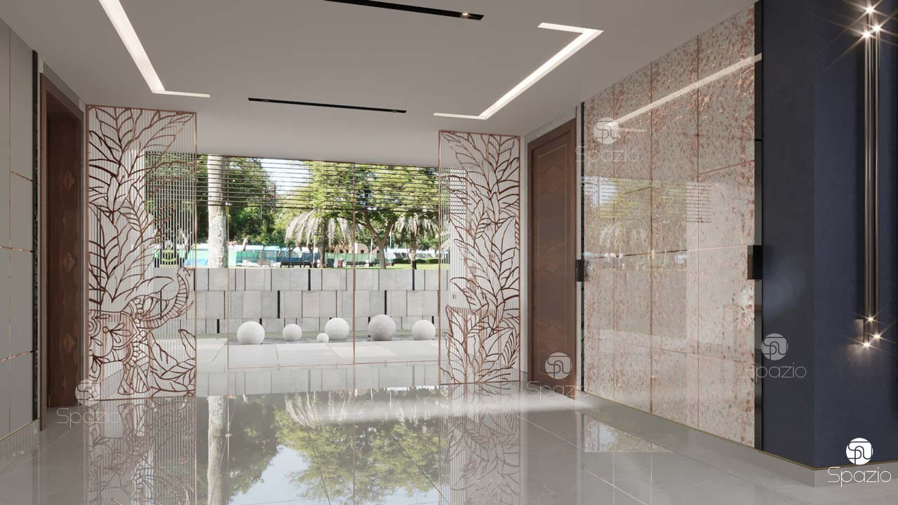 Luxury interior design for an Indian temple