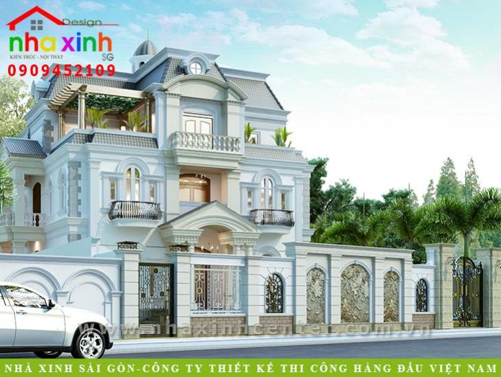 Thiết kế biệt thự Pháp đẹp nhất Việt Nam