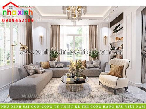 thiết kế nội thất tân cổ điển phong cách châu âu đẹp