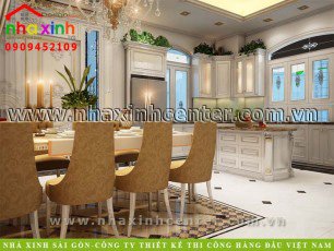 thiết kế nội thất phòng bếp đẹp 2020