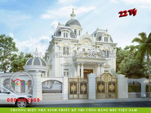 Nhà Xinh Biệt Thự Cổ Điển Pháp Kiểu Lâu Đài Kim Anh