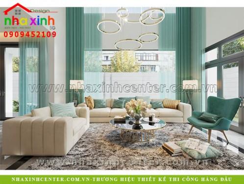 nhà xinh mẫu thiết kế nội thất biệt thự hiện đại chị linh