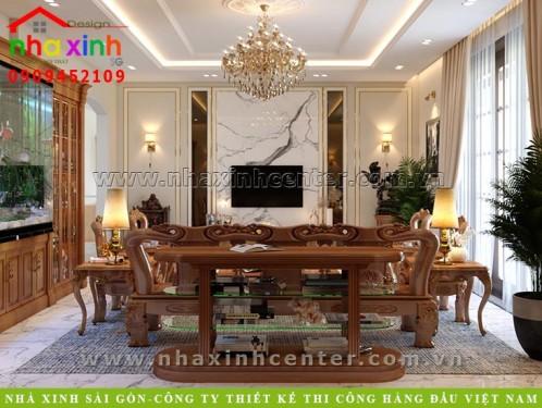 thiết kế nội thất đồ gỗ cao cấp chị loan