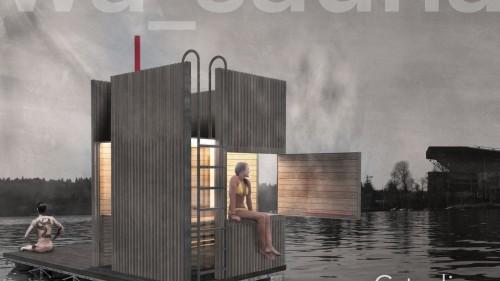 Dự án thiết kế phòng tắm hơi nổi trên mặt hồ